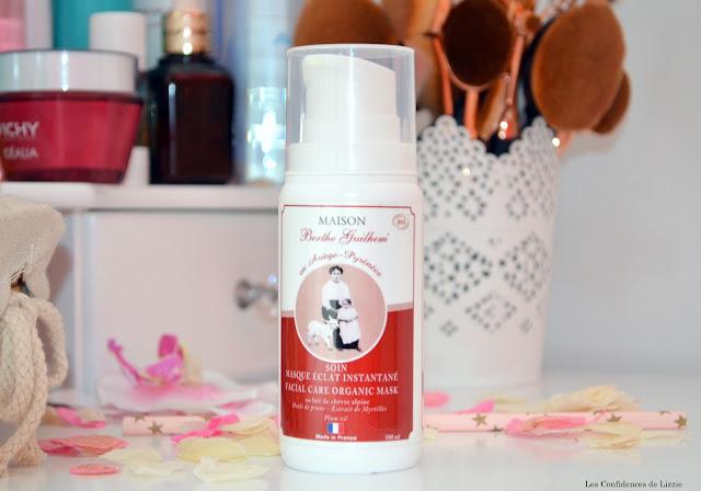 soin - soin bio - masque de beauté bio - lait de chèvre - lait de chèvre en cosmétique - soin français - masque de beauté fait en France - soin made in France - Maison Berthe Guilhem - marque artisanale - soin hydratant - soin repulpant - soin naturel
