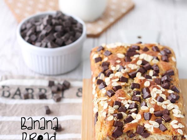 Banana bread con pezzi di cioccolato e avena