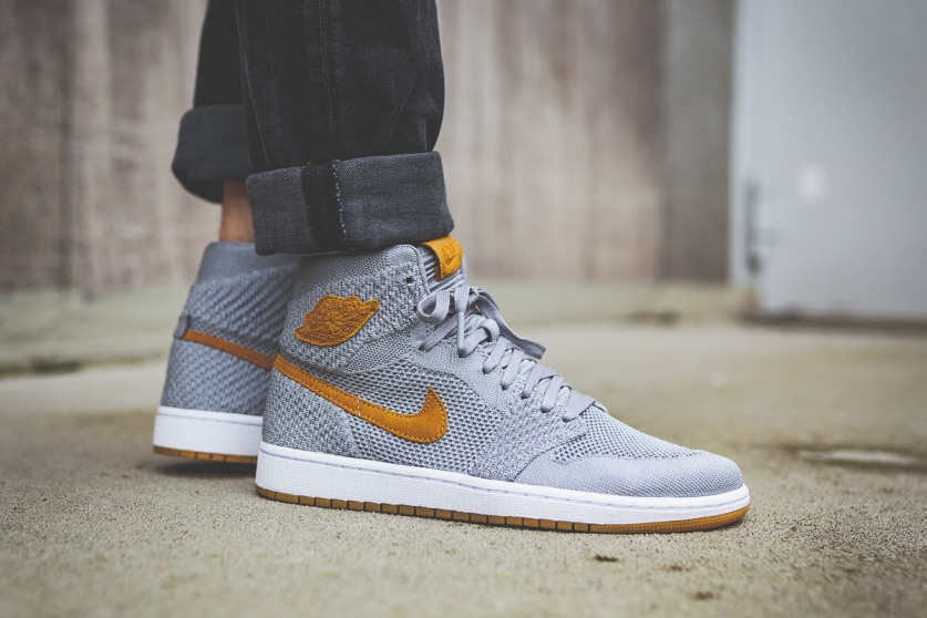 cheap for discount 28b63 040d0 Swag Craze  First Look  Air Jordan 1 High Flyknit  Wolf Grey