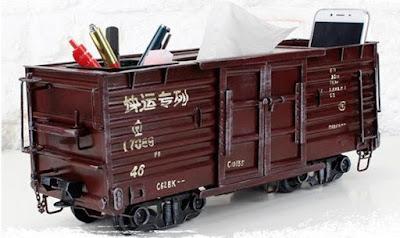 Train Cabin Tissuebox Holder