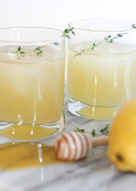 Honey Lemon Thyme Cocktail