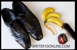 banana peel to Shoe Shine