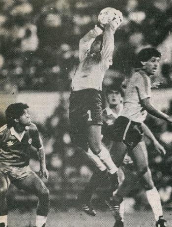 Ecuador y Chile en partido amistoso, 29 de enero de 1989