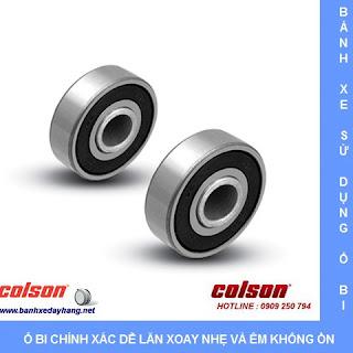 Bánh xe cao su càng nhựa ty ren Colson chịu lực 70 ~ 100kg sử dụng bạc đạn ổ bi