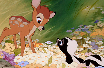 Bambi and Flower Bambi 1942 animatedfilmreviews.filminspector.com