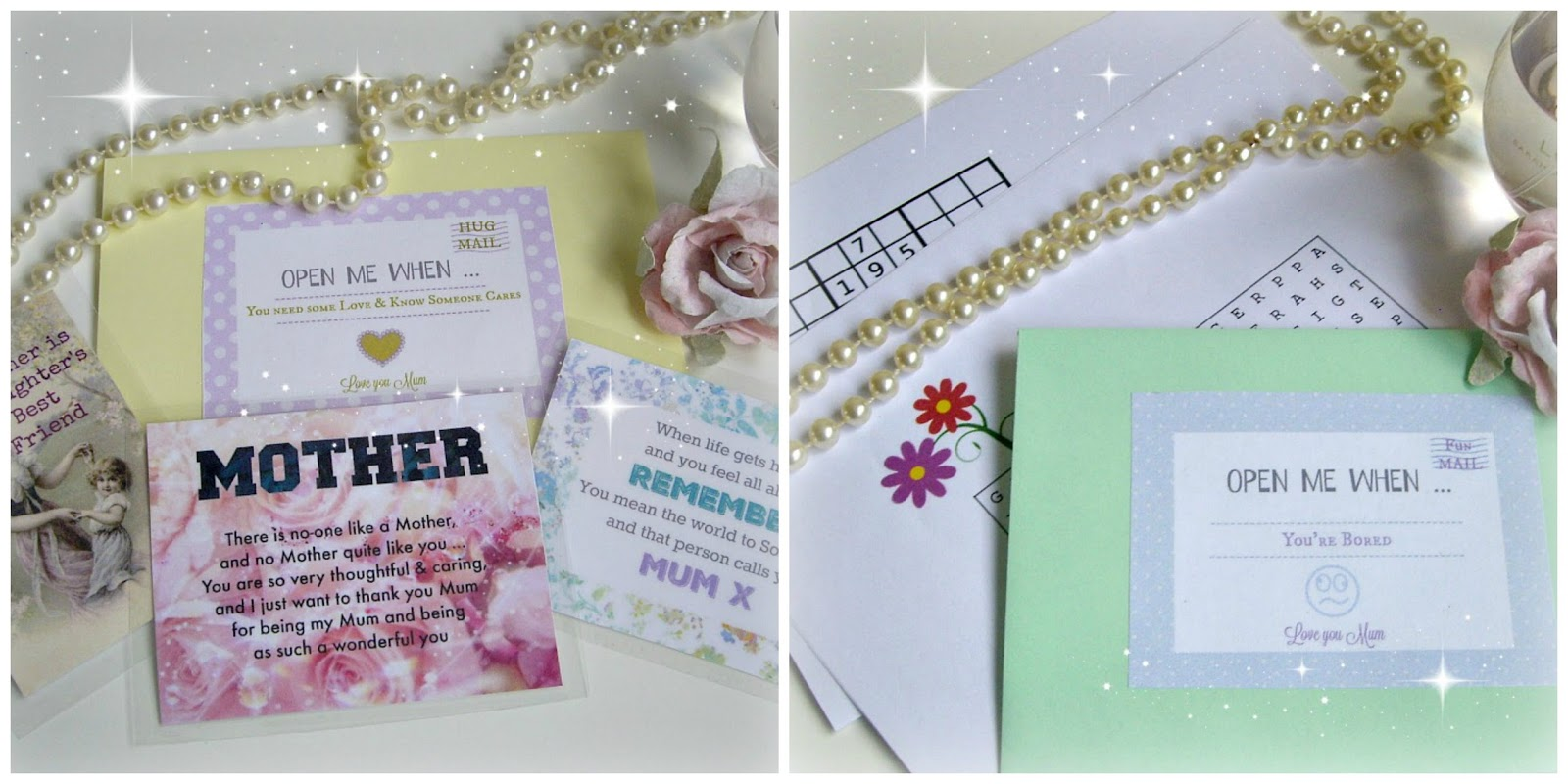 Here we have an envelope for when Mum needs to know someone cares plete with quote cards to let her know how much you love her you can also pop in a