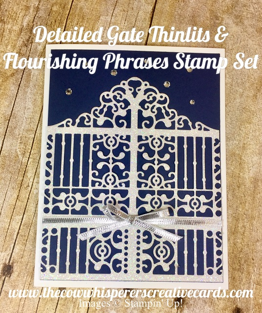 Detailed Gate Thinlits, Flourishing Phrases, Sympathy, Card