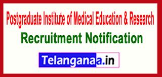 PGIMER Postgraduate Institute of Medical Education Research Recruitment Notification 2017 Last Date 16-06-2017