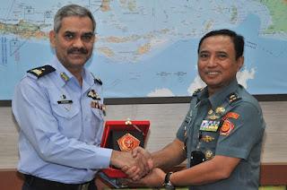 Kapuskersin TNI Terima Kunjungan Delegasi Pakistan Air War College