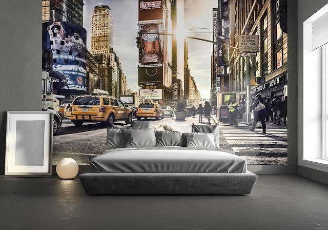 Fototapet New York Times Square taxi bilar manhattan fondtapet