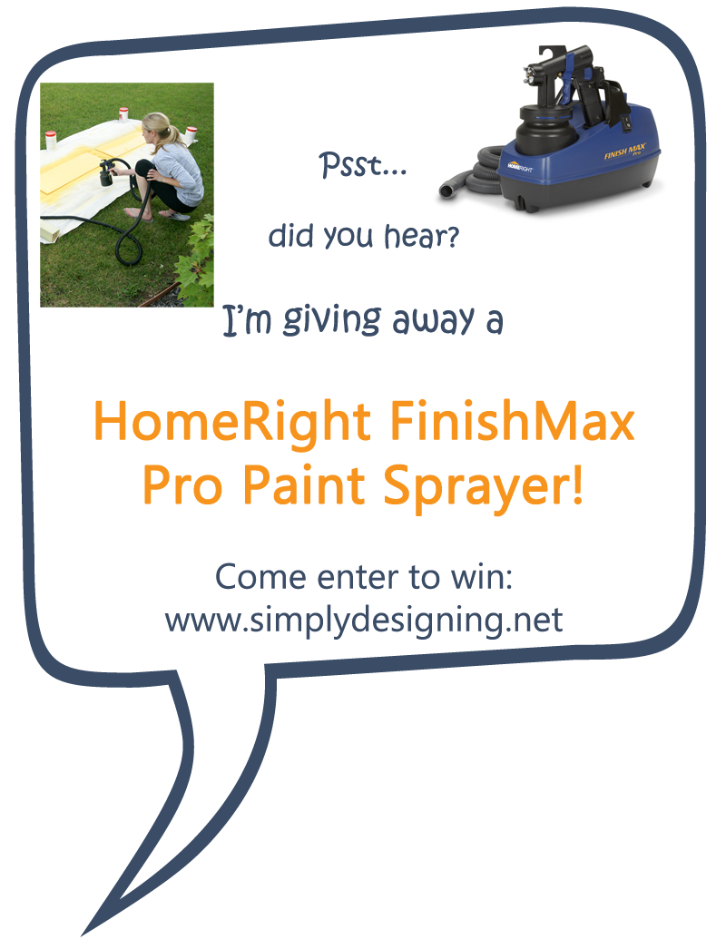 HomeRight FinishMax Pro Fine Finish Sprayer is perfect for spraying paint, stain or sealer!  Come check it out and Enter to WIN one of your own!