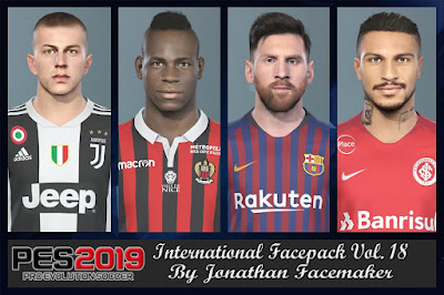 PES 2019 Facepack International vol 18 by Jonathan Facemaker