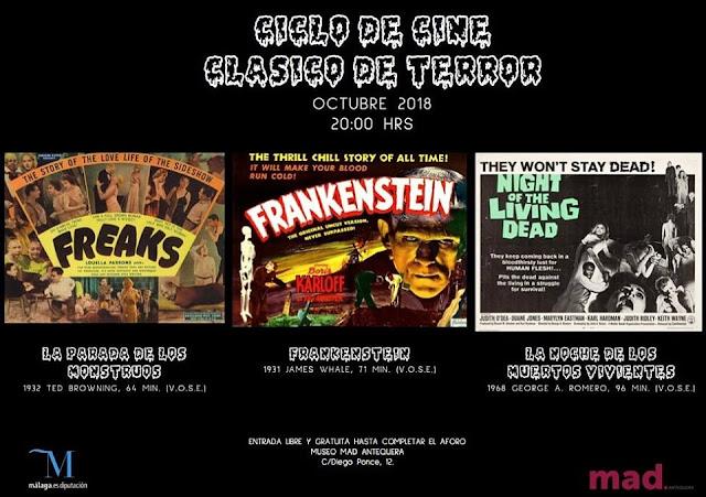 Ciclo de Cine Clásico de Terror en el MAD Antequera
