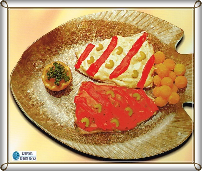 Filete de platija con pimientos