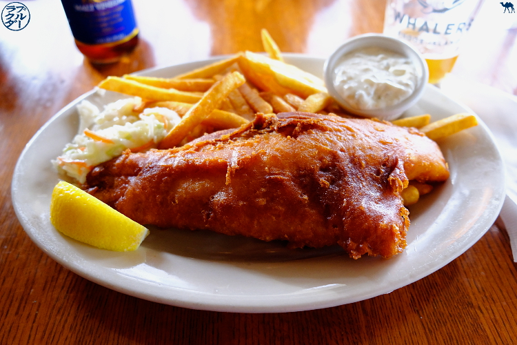Le Chameau Bleu - Blog Voyage Block Island - Fish and Chip au pub Mohegan Cafe and Brewery sur Block Island