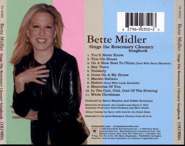 bette midler sings the rosemary clooney songbook