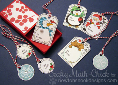 Christmas Tags & box by Crafty Math Chick | Jolly Tags by Newton's Nook Designs