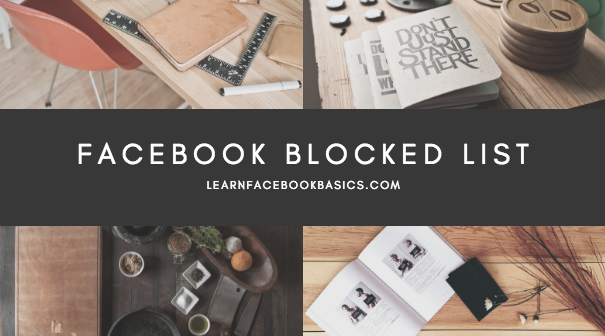 View My Blocked List On Facebook | See Your Facebook Blocked List