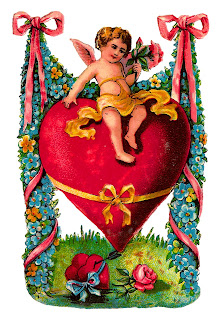 valentine victorian antique image clipart greeting printable cupid heart