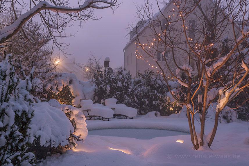 Gartenblog geniesser garten beleuchtung garten - Garten im winter ...