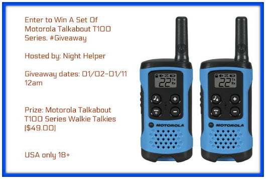 Motorola Talkabout T100 Series Giveaway