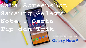 Cara Screenshot pada Samsung Galaxy Note 9 1