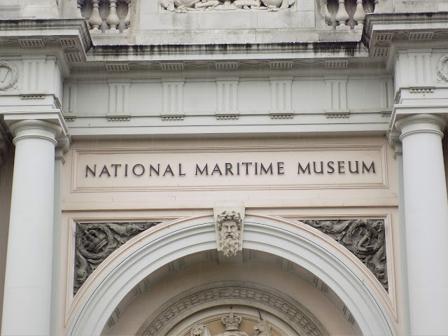 Entrance signage of the National Maritime Museum, Greenwich, UK