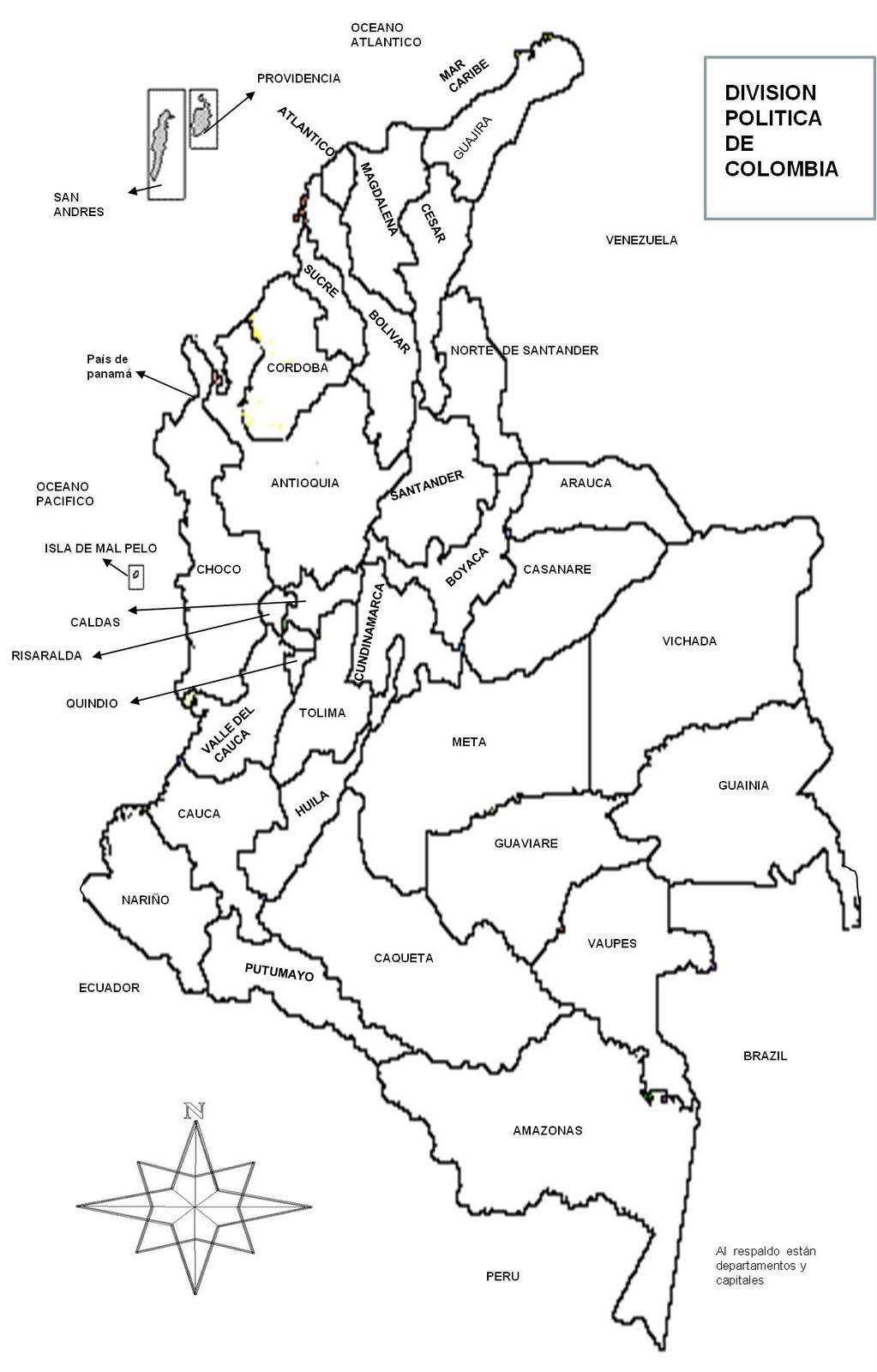 croqui mapa El Croquis Del Mapa De Colombia croqui mapa
