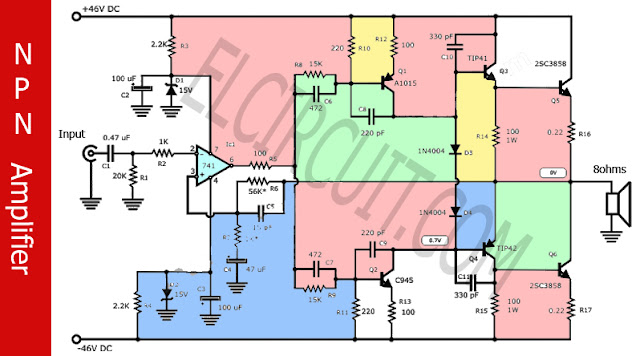 NPN Power amplifier circuit