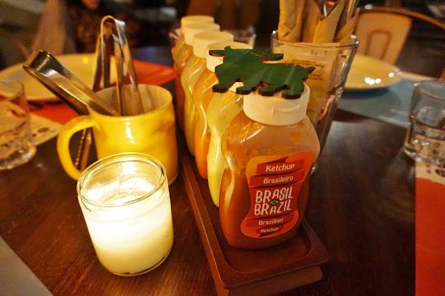 condiments on table