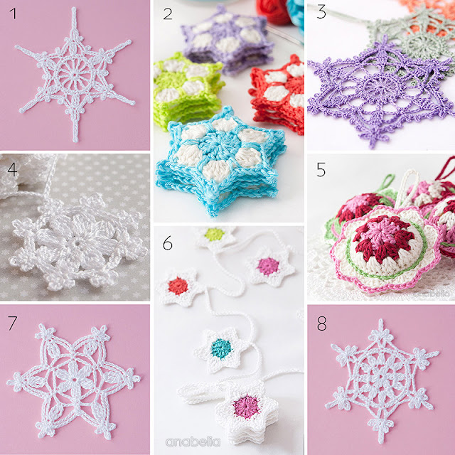 Anabelia craft design: 8 Christmas crochet stars and snowflakes ...
