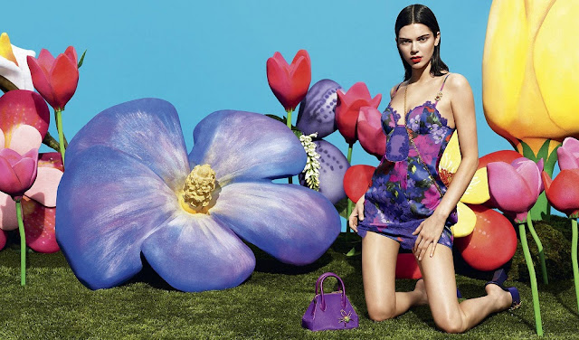 Kendall Jenner models print slip dress in La Perla pre-fall Latest campaign