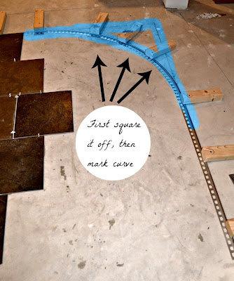 The Penny Parlor: How to Curve a Tile Transition Strip