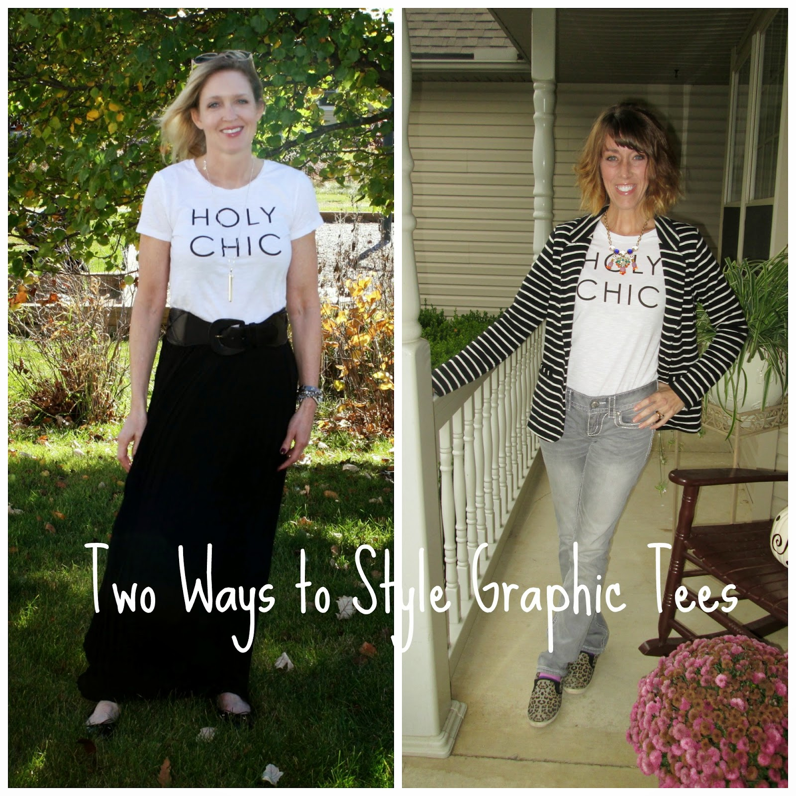 90c5b9e9 Holy Chic! Two Ways to Style Graphic Tees - Doused in Pink | Chicago ...