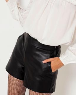 short en simili cuir noir camaieu