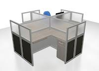 Meja Cubicle Workstation Untuk Kantor Pemerintahan