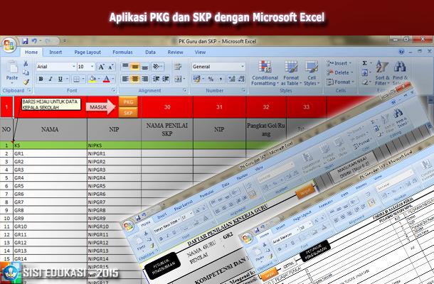Aplikasi PKG dan SKP dengan Microsoft Excel