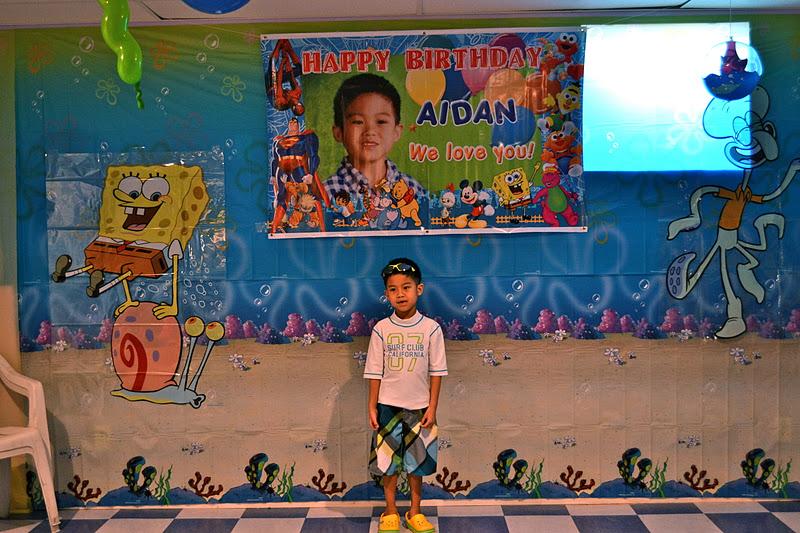 Birthday Boy Ready To Party Wearing His Beach Attire