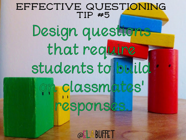 Read this blogpost to find out how to design effective questions, promote inquiry, and improve teacher/student relationships in your classroom. Very helpful!