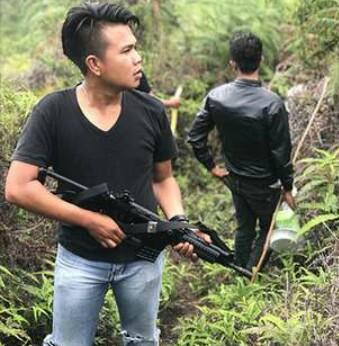 Tim gabungan yang melakukan penyisiran di hutan
