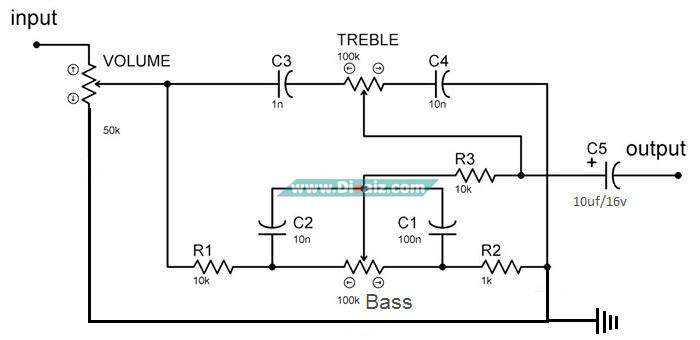 Skema Tone Control Pasif