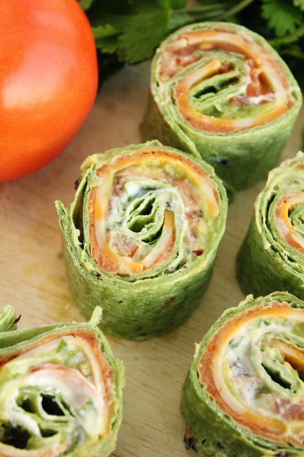 Baking with Blondie : 7-Layer Dip Tortilla Pinwheels