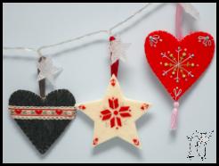 nowy wymiar filcaków – haftowane ozdoby świąteczne