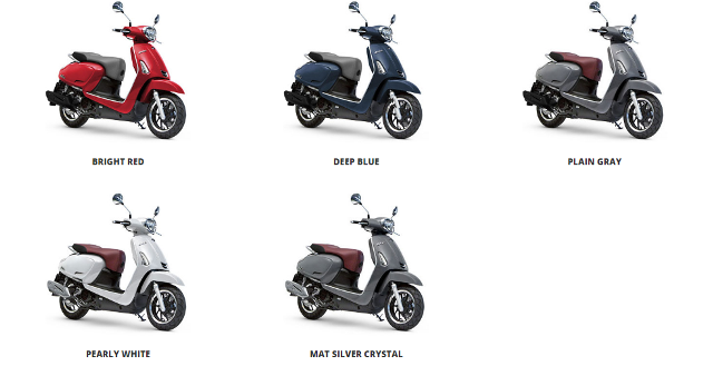 spesifikasi harga dan pilihan warna kymco like 150i