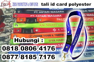Jual Gantungan ID Card / Tali Badge ID Nylon sablon logo