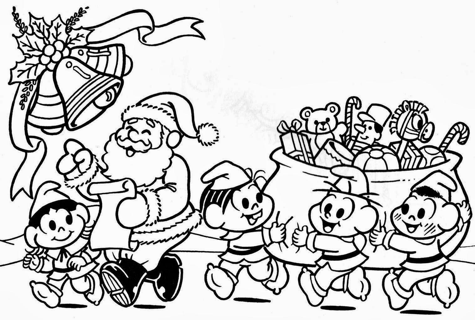Desenhos De Colorir Mônica Cebolinha Cascão E Magali Da