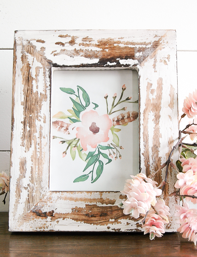 free spring poppy printable in the entryway