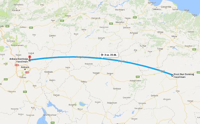 Sivas'tan Ankara'ya uçak bileti