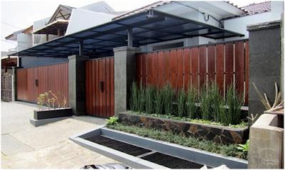 Model pagar kayu minimalis terbaru