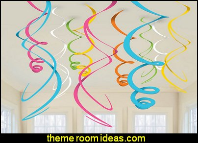 Multi-Color Plastic Swirl Decorations